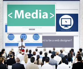 Business People Media Presentation Concept