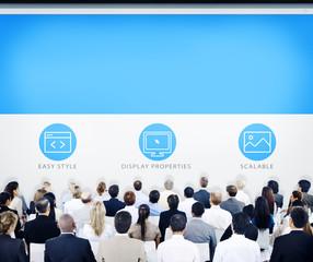Business People Design Seminar Concept