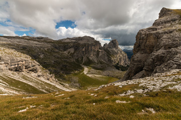 glacial valley in South Tyrol