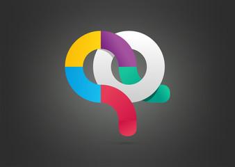 Logo abstract circle media symbol, sign