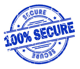 100% secure stamp