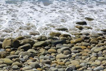 Beach Cobbles and Tide Foam, background