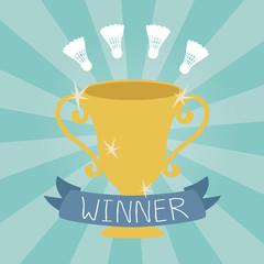 Badminton winner cup