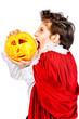 vamp with pumpkin