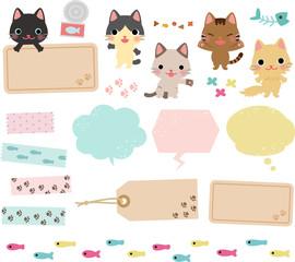 猫のデコレーション素材