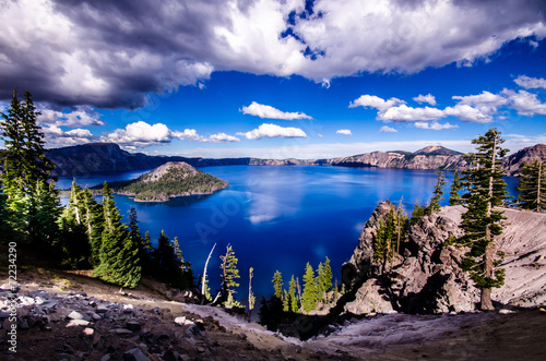 Fotobehang Grote meren Crater Lake, Oregon