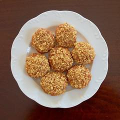 melomakarona, greek Christmas honey and nuts cookies