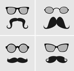Vector sunglasses and mustaches