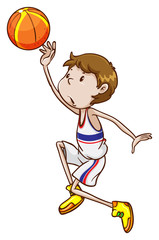 A young basketball player