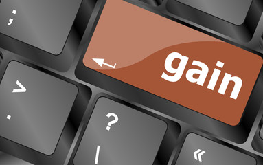 gain word on computer pc keyboard key