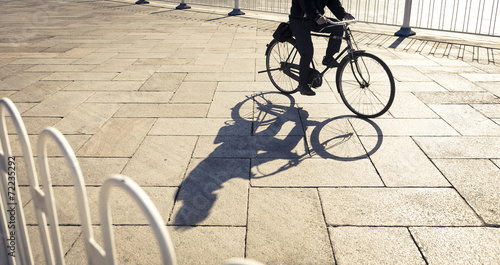 People Riding Bicycle in city - 72235292