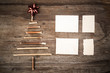 Christmas tree note paper background