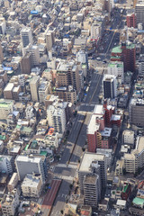 City scape of Tokyo building