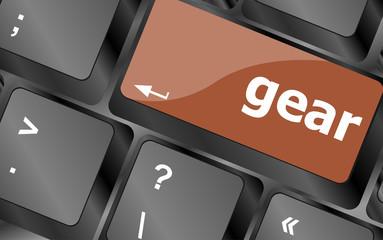 gear button on computer pc keyboard key