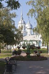 Сквер у храма Александра Невского в городе Вологде