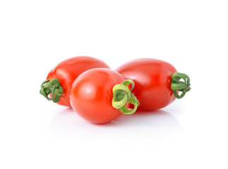 tomatoes isolated on white background.