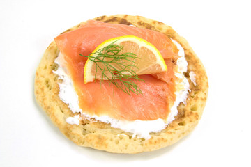 blinis et saumon