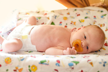 newborn on the cover dresser