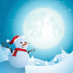 Snowman - Christmas night
