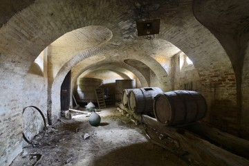 old abandoned cellar