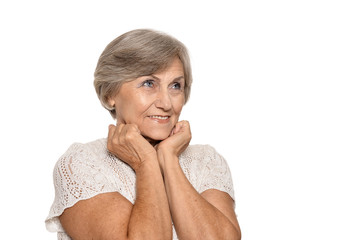 Older woman is happily