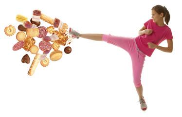 Diet fitness woman