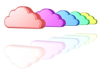 bunte Wolken - Optimismus, Teamwork