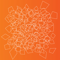 Geometric objects background. Abstract elements wallpaper.