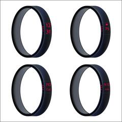Vector illustration of black smart wristbands
