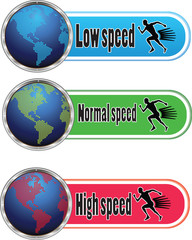 button of speed