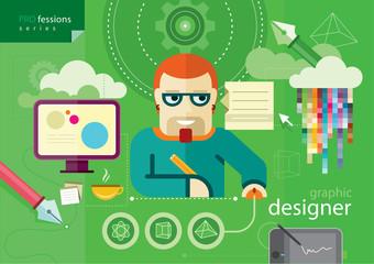 Graphic designer profession series