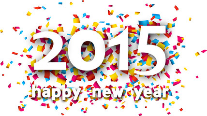 2015 paper confetti word.