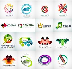 Abstract company logo vector collection