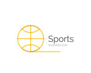 Line minimal design logo ball sports