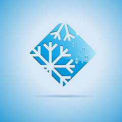 Square Vector logo Ice on white background