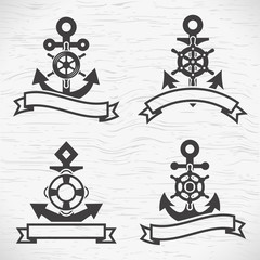 Anchor icons set.