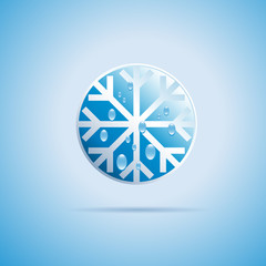 Round Vector sign Ice on white background