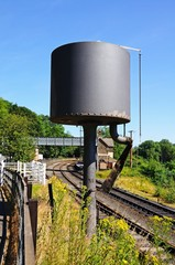 Water tower along railway line © Arena Photo UK