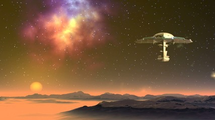 Alien craft approaching