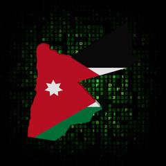 Jordan map flag on hex code illustration