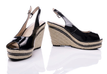 Summer shoes for women on white