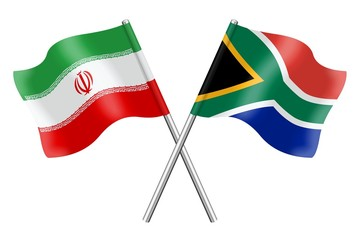 Flags: Iran and South Africa