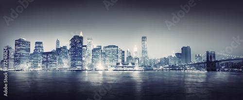 obraz PCV Miasto scape New York Budynki Podróż Koncepcje