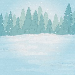 Vintage background. winter forest landscape.
