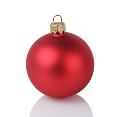 one solid red color christmas ball