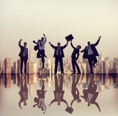 Business People Corporate Success City Concepts