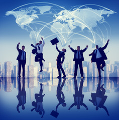 Global Business People Success City Concepts
