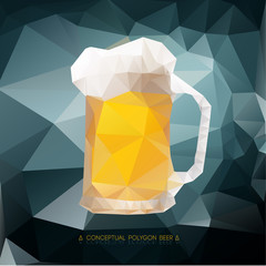 Polygon pattern of beer