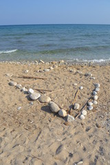 Cuore di Pietra, sabbia e mare