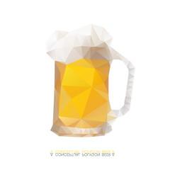 Polygon pattern of beer